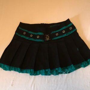 Tripp black pleated miniskirt womens sz L